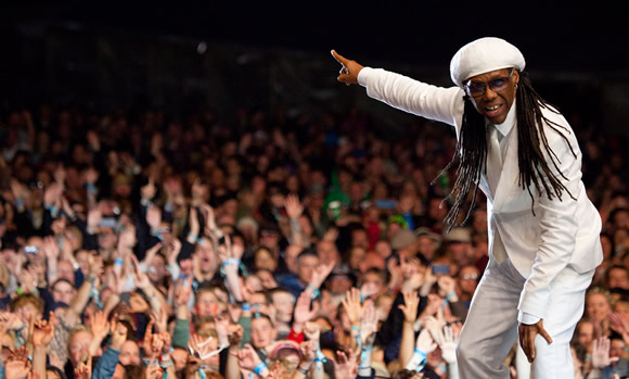 Nile Rodgers at Bingley Music Live